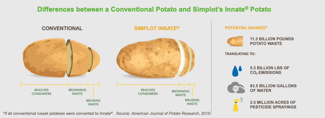 Conventional Potato vs. Innate